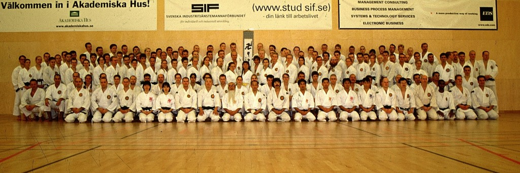 Group picture from the 30th anniversary of Shorinji Kempo in Sweden, September 2000.