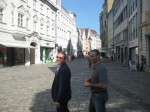 Carugatti-sensei och Max Rossi, sightseeing i Augsburg