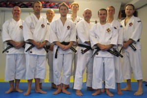 Instructor's Seminar in October 2011. From left: Anders, Robert, Alex, Arnaud, Erik, Boban, Mansur, Magnus and Leif.