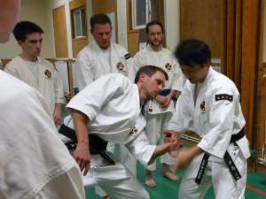 Nakashima-sensei undervisar teknik