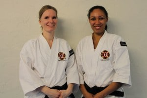 Kajsen and Charlene after their grading to nidan.