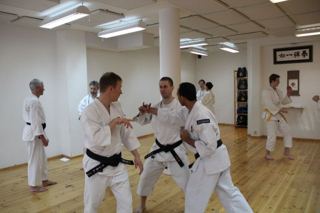 Åke-sensei teaching Kenneth & Piyush