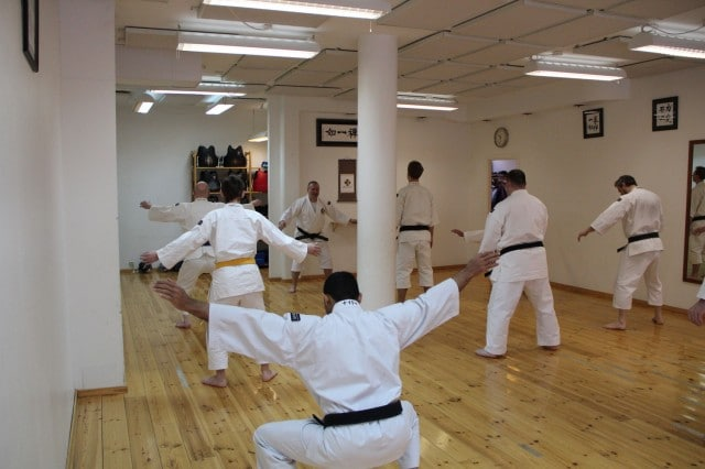 Steve-sensei holding warm up on Sunday
