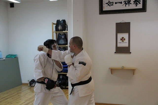 Steve-sensei taught reaction training and taisabaki (body movement)