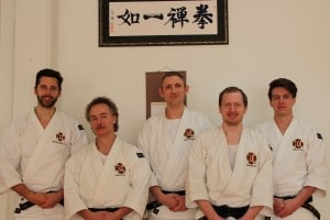 Grading 2012- 03-31, from the left Kenneth, Peter, Pontus, Mats & Joakim.