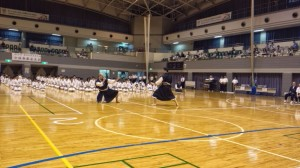 Viktor perform embu with Miyagawa-sensei at a big embu competition