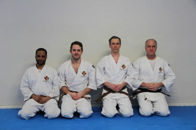 Seif, Jonathan, Heike & Patrik after the grading examination. Congratulations!