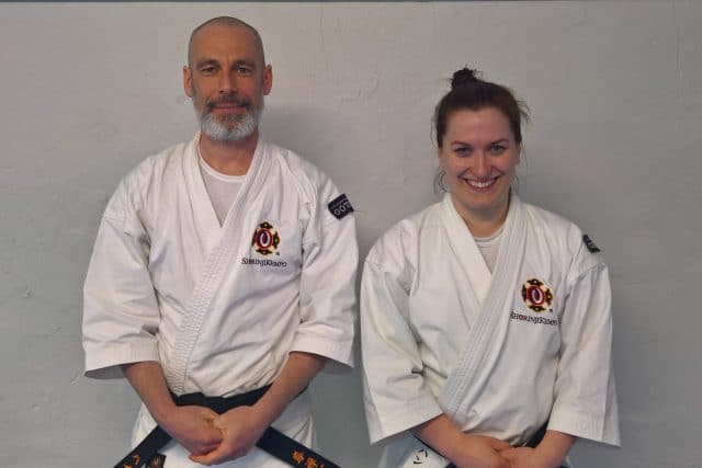Heike and Hanna after their successful grading