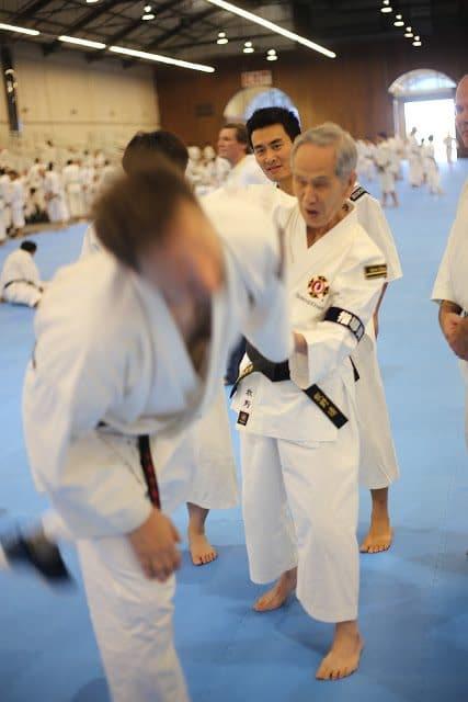 Makino sensei är 85 år men undervisade ändå - inspirerande!