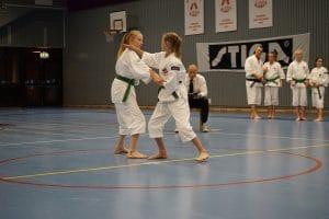 Maja och Amanda van juniorklassens kumi embu.